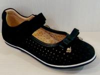 Mini-shoes туфли 303-MS синий нубук (31-36)