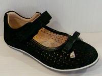 Mini-shoes туфли 303-MS черный нубук блеск (31-36)