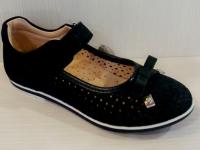 Mini-shoes туфли 303-MS синий нубук блеск (31-36)