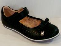 Mini-shoes туфли 303-MS черная кожа (31-36)