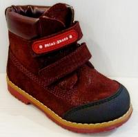 Mini-Shoes ботинки 505-MS бордовый блеск (31-36)