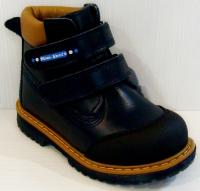 Mini-Shoes ботинки 505-MS темно синяя кожа (26-30)