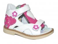 TWIKI сандали  TW-106 бело-розовый (21-25)