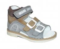 Minitin сандали 1803 сер-беж-кор (21-25)