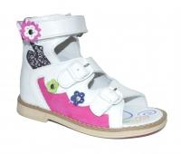 TWIKI сандали  TW-107 бело-розовый (21-25)